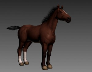 New Horse Texture (a Draft model)